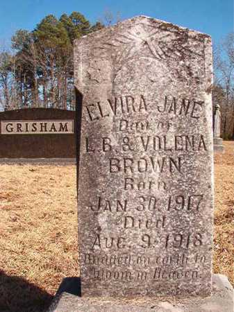 BROWN, ELVIRA JANE - Calhoun County, Arkansas | ELVIRA JANE BROWN - Arkansas Gravestone Photos