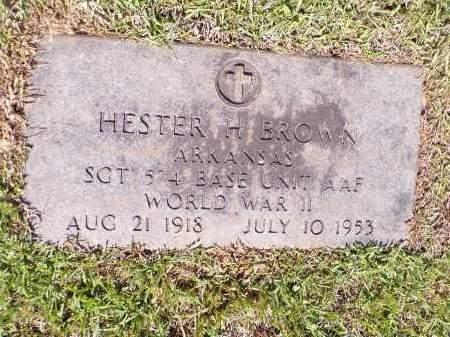 BROWN (VETERAN WWII), HESTER H - Calhoun County, Arkansas | HESTER H BROWN (VETERAN WWII) - Arkansas Gravestone Photos
