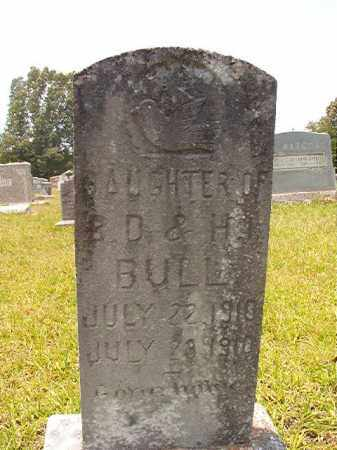 BULL, INFANT DAUGHTER - Calhoun County, Arkansas | INFANT DAUGHTER BULL - Arkansas Gravestone Photos