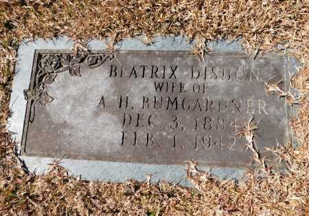 DISHON BUMGARDNER, BEATRICE - Calhoun County, Arkansas | BEATRICE DISHON BUMGARDNER - Arkansas Gravestone Photos