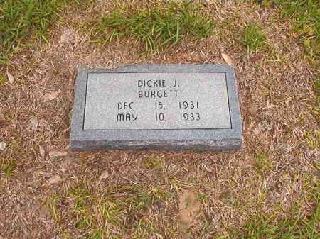 BURGETT, DICKIE J - Calhoun County, Arkansas | DICKIE J BURGETT - Arkansas Gravestone Photos
