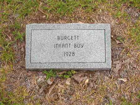 BURGETT, INFANT BOY - Calhoun County, Arkansas | INFANT BOY BURGETT - Arkansas Gravestone Photos