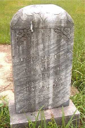 OLIVER BURROUGH, CARRIE - Calhoun County, Arkansas | CARRIE OLIVER BURROUGH - Arkansas Gravestone Photos