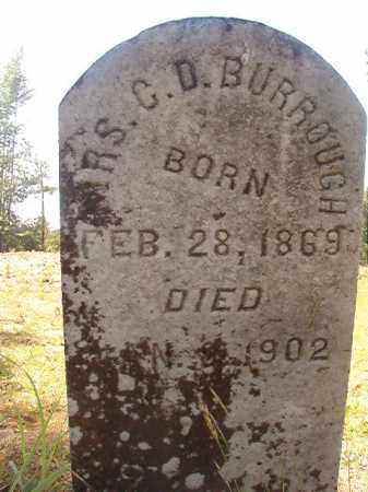 BURROUGHS, MRS, C D - Calhoun County, Arkansas | C D BURROUGHS, MRS - Arkansas Gravestone Photos