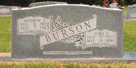 BURSON, ALMA E - Calhoun County, Arkansas | ALMA E BURSON - Arkansas Gravestone Photos