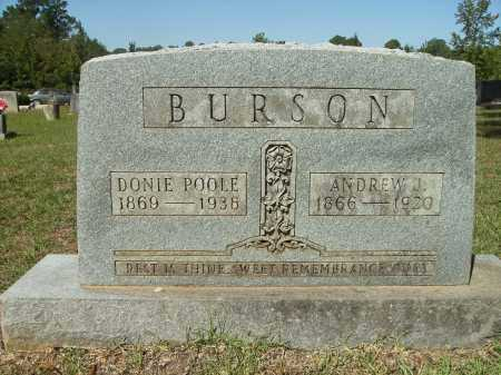 POOLE BURSON, DONIE - Calhoun County, Arkansas | DONIE POOLE BURSON - Arkansas Gravestone Photos