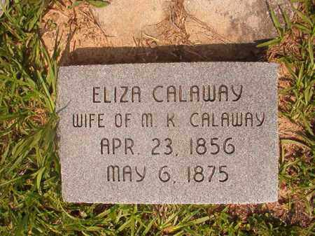 CALAWAY, ELIZA LOUISE - Calhoun County, Arkansas | ELIZA LOUISE CALAWAY - Arkansas Gravestone Photos
