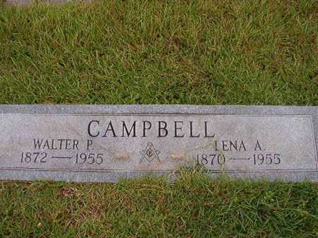 CAMPBELL, WALTER P - Calhoun County, Arkansas | WALTER P CAMPBELL - Arkansas Gravestone Photos