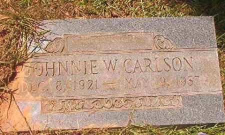 CARLSON, JOHNNIE W - Calhoun County, Arkansas | JOHNNIE W CARLSON - Arkansas Gravestone Photos