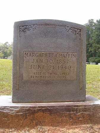 CHAFFIN, MARGARETT - Calhoun County, Arkansas | MARGARETT CHAFFIN - Arkansas Gravestone Photos