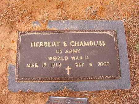 CHAMBLISS (VETERAN WWII), HERBERT E - Calhoun County, Arkansas | HERBERT E CHAMBLISS (VETERAN WWII) - Arkansas Gravestone Photos