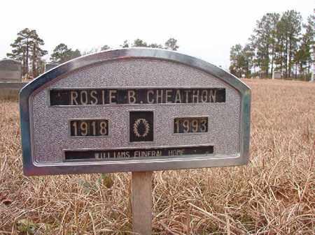 CHEATHON, ROSIE B - Calhoun County, Arkansas | ROSIE B CHEATHON - Arkansas Gravestone Photos