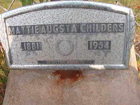 CHILDERS, MATTIE AUGSTA - Calhoun County, Arkansas | MATTIE AUGSTA CHILDERS - Arkansas Gravestone Photos