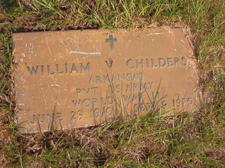 CHILDERS (VETERAN WWII), WILLIAM V - Calhoun County, Arkansas | WILLIAM V CHILDERS (VETERAN WWII) - Arkansas Gravestone Photos