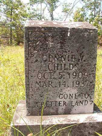 CHILDS, GENNIE V - Calhoun County, Arkansas | GENNIE V CHILDS - Arkansas Gravestone Photos
