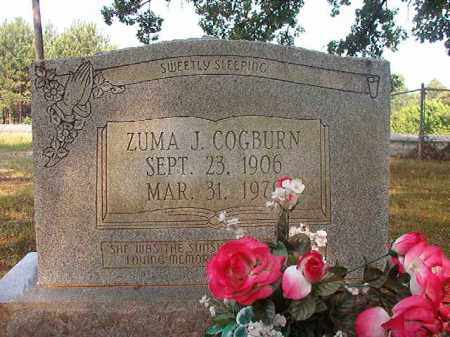 COGBURN, ZUMA J - Calhoun County, Arkansas | ZUMA J COGBURN - Arkansas Gravestone Photos