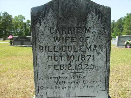 COLEMAN, CARRIE M - Calhoun County, Arkansas | CARRIE M COLEMAN - Arkansas Gravestone Photos