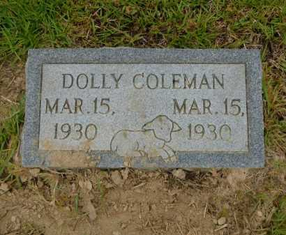 COLEMAN, DOLLY - Calhoun County, Arkansas | DOLLY COLEMAN - Arkansas Gravestone Photos