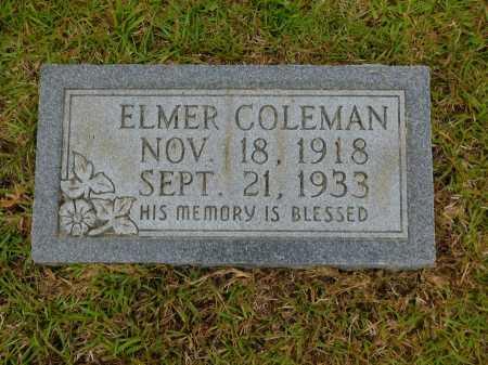 COLEMAN, ELMER - Calhoun County, Arkansas | ELMER COLEMAN - Arkansas Gravestone Photos
