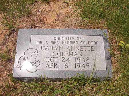 COLEMAN, EVELYN ANNETTE - Calhoun County, Arkansas   EVELYN ANNETTE COLEMAN - Arkansas Gravestone Photos