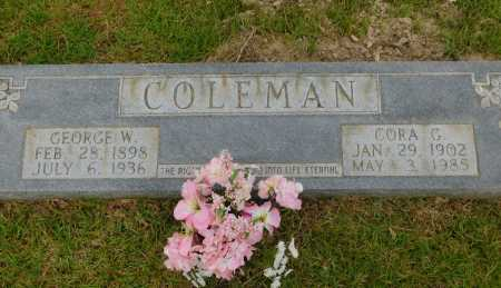 COLEMAN, GEORGE W - Calhoun County, Arkansas | GEORGE W COLEMAN - Arkansas Gravestone Photos