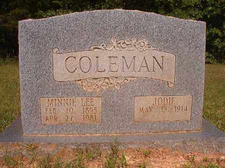 COLEMAN, MINNIE LEE - Calhoun County, Arkansas | MINNIE LEE COLEMAN - Arkansas Gravestone Photos