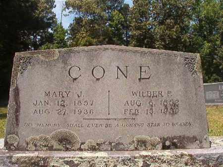 CONE, MARY J - Calhoun County, Arkansas | MARY J CONE - Arkansas Gravestone Photos