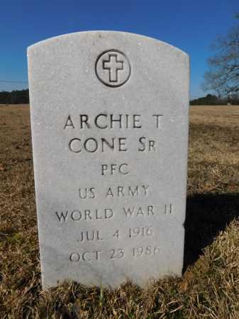 CONE, SR (VETERAN WWII), ARCHIE T - Calhoun County, Arkansas | ARCHIE T CONE, SR (VETERAN WWII) - Arkansas Gravestone Photos