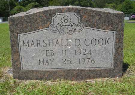 COOK, MARSHALL D - Calhoun County, Arkansas | MARSHALL D COOK - Arkansas Gravestone Photos