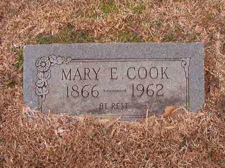 COOK, MARY E - Calhoun County, Arkansas | MARY E COOK - Arkansas Gravestone Photos
