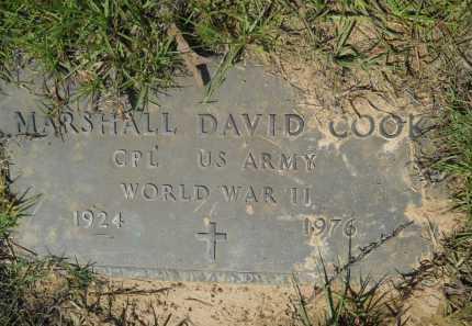 COOK (VETERAN WWII), MARSHALL DAVID - Calhoun County, Arkansas | MARSHALL DAVID COOK (VETERAN WWII) - Arkansas Gravestone Photos