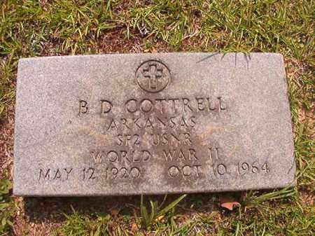 COTTRELL (VETERAN WWII), B D - Calhoun County, Arkansas | B D COTTRELL (VETERAN WWII) - Arkansas Gravestone Photos