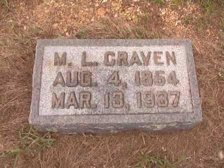 CRAVEN, M L - Calhoun County, Arkansas | M L CRAVEN - Arkansas Gravestone Photos