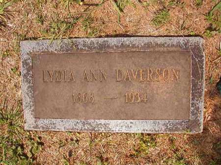 DAVERSON, LYDIA ANN - Calhoun County, Arkansas | LYDIA ANN DAVERSON - Arkansas Gravestone Photos
