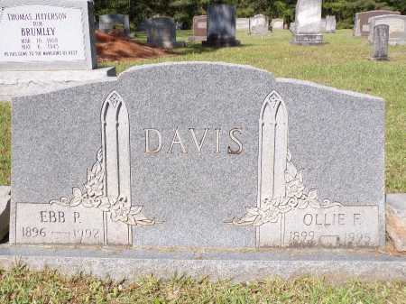 DAVIS, EBB P - Calhoun County, Arkansas | EBB P DAVIS - Arkansas Gravestone Photos