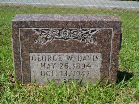 DAVIS, GEORGE W - Calhoun County, Arkansas | GEORGE W DAVIS - Arkansas Gravestone Photos