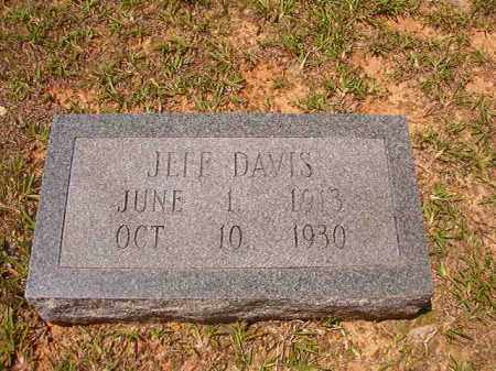 DAVIS, JEFF - Calhoun County, Arkansas | JEFF DAVIS - Arkansas Gravestone Photos