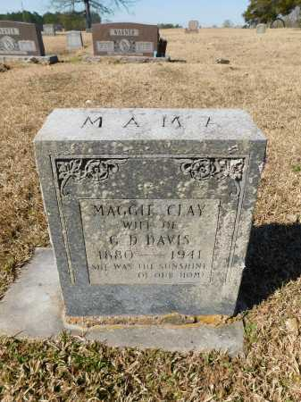 CLAY DAVIS, MAGGIE - Calhoun County, Arkansas | MAGGIE CLAY DAVIS - Arkansas Gravestone Photos