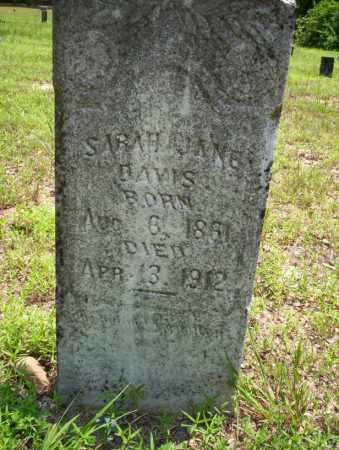 DAVIS, SARAH JANE - Calhoun County, Arkansas | SARAH JANE DAVIS - Arkansas Gravestone Photos