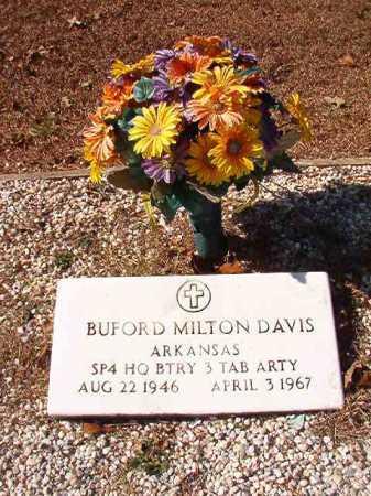 DAVIS (VETERAN), BUFORD MILTON - Calhoun County, Arkansas | BUFORD MILTON DAVIS (VETERAN) - Arkansas Gravestone Photos