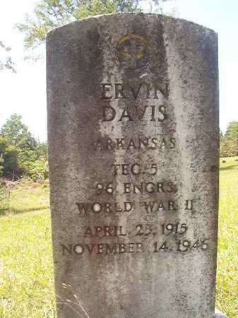 DAVIS (VETERAN WWII), ERVIN - Calhoun County, Arkansas | ERVIN DAVIS (VETERAN WWII) - Arkansas Gravestone Photos