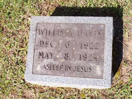 DAVIS, WILLIS A - Calhoun County, Arkansas | WILLIS A DAVIS - Arkansas Gravestone Photos