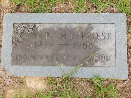 DEPRIEST, MARY H - Calhoun County, Arkansas | MARY H DEPRIEST - Arkansas Gravestone Photos