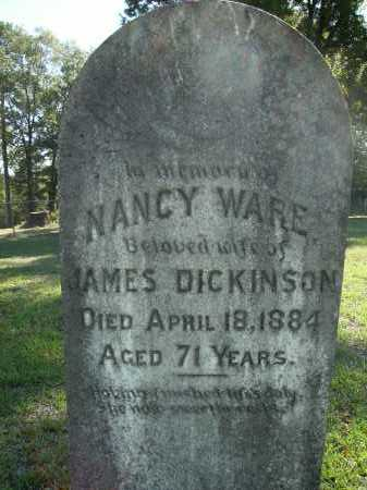 WARE DICKINSON, NANCY - Calhoun County, Arkansas | NANCY WARE DICKINSON - Arkansas Gravestone Photos