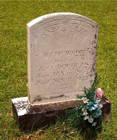 WADE DOUGLAS, KATE - Calhoun County, Arkansas | KATE WADE DOUGLAS - Arkansas Gravestone Photos