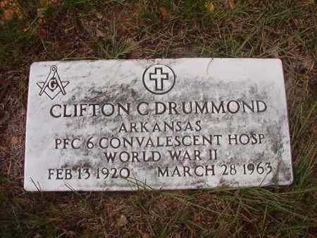 DRUMMOND (VETERAN WWII), CLIFTON C - Calhoun County, Arkansas | CLIFTON C DRUMMOND (VETERAN WWII) - Arkansas Gravestone Photos
