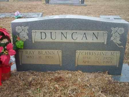 DUNCAN, CHRISTINE M - Calhoun County, Arkansas | CHRISTINE M DUNCAN - Arkansas Gravestone Photos