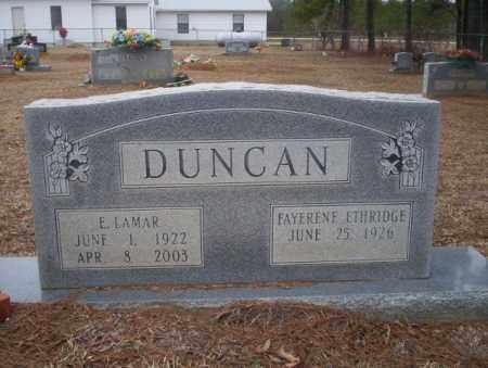 DUNCAN, E LAMAR - Calhoun County, Arkansas | E LAMAR DUNCAN - Arkansas Gravestone Photos