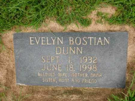 BOSTIAN DUNN, EVELYN - Calhoun County, Arkansas | EVELYN BOSTIAN DUNN - Arkansas Gravestone Photos