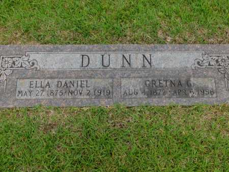 DANIEL DUNN, ELLA - Calhoun County, Arkansas | ELLA DANIEL DUNN - Arkansas Gravestone Photos